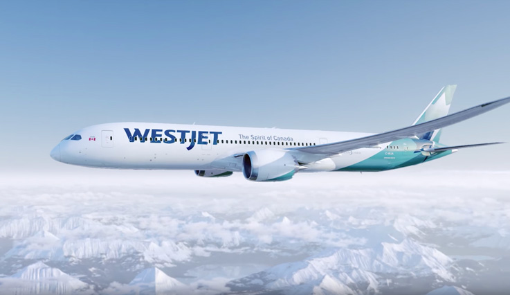 The WestJet 787 Dreamliner