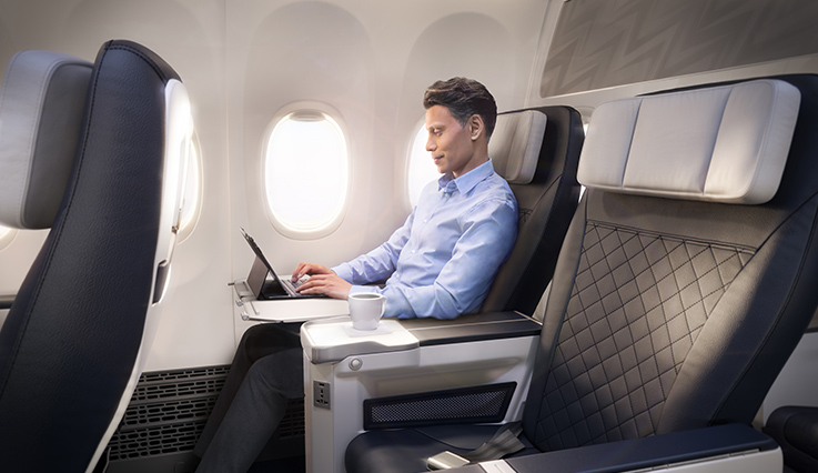 Economy seats on the Boeing 787 Dreamliner