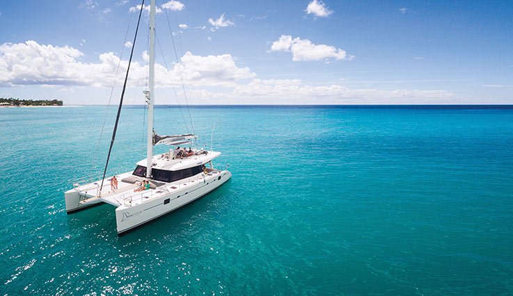 Catamaran in Barbados