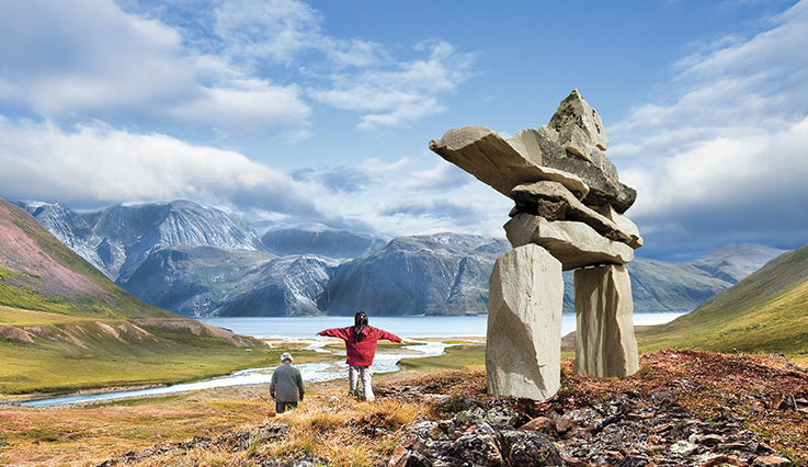 Inuksuk in the Canadian wilderness