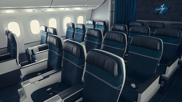 Empty seats in Premium section of  aircraft