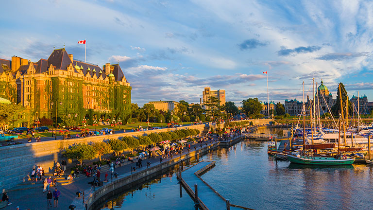Picturesque shot of Victoria British Columbia