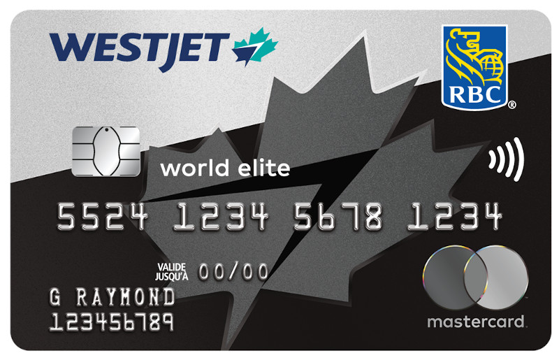 La carte WestJet World Elite Mastercard RBC