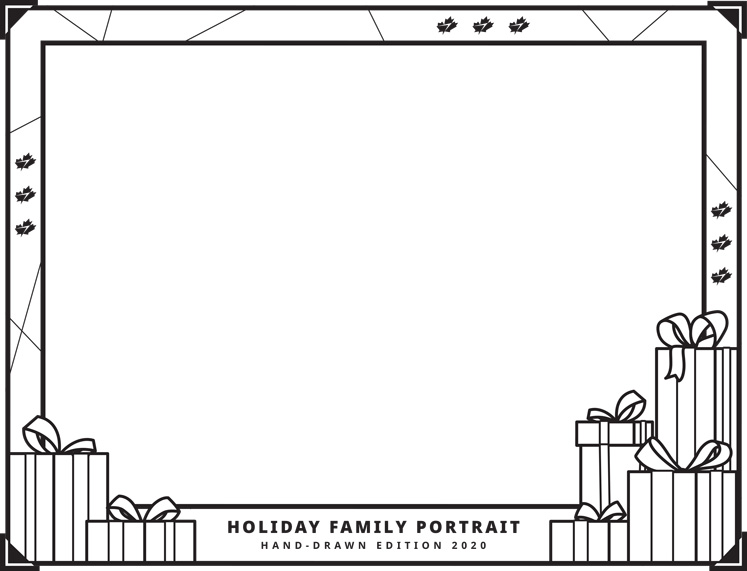 Christmas colouring - frame