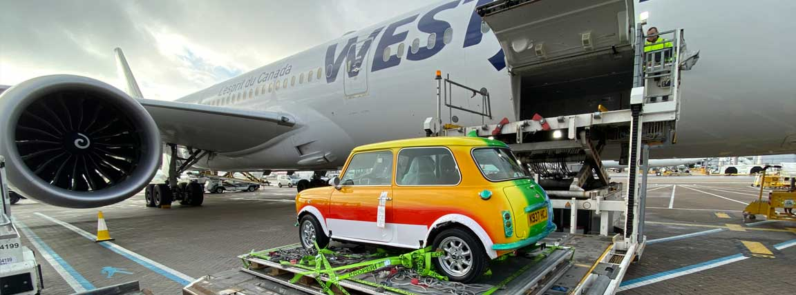 Shipping a mini car by WestJet Cargo