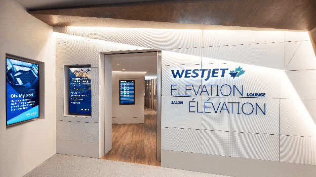 Welcome to the WestJet Elevation Lounge