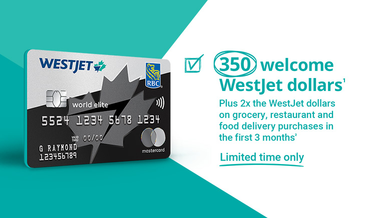 350 welcome WestJet Dollars
