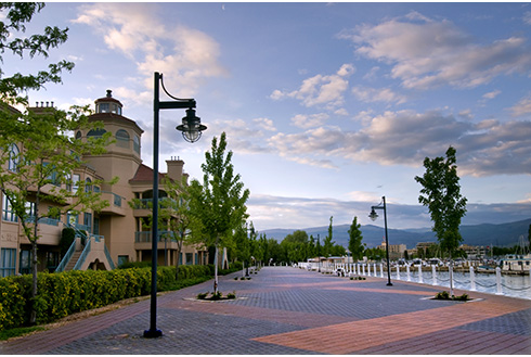 Showing slide 6 of 20 in image gallery, kelowna-british-columbia_morning-downtown