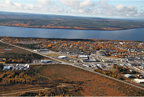 Showing slide 1 of 18 in image gallery, gander-newfoundland_city-aerial-view