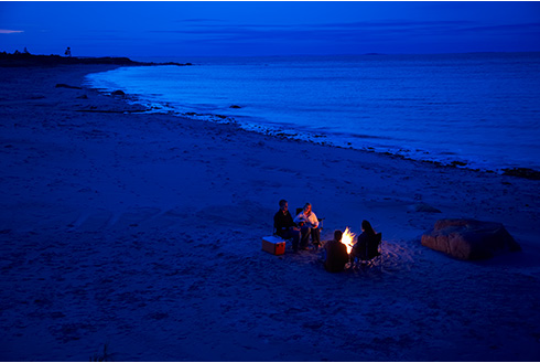 Showing slide 5 of 18 in image gallery, gander-newfoundland_beach-campfire