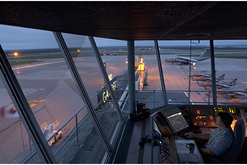Showing slide 6 of 18 in image gallery, gander-newfoundland_gander-airport-view-from-tower