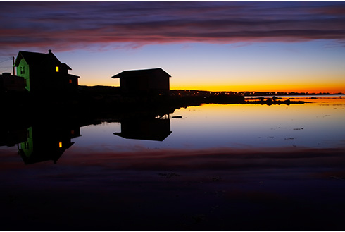 Showing slide 17 of 18 in image gallery, gander-newfoundland_night-waterfront-sunset