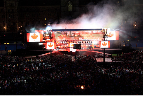 Showing slide 3 of 21 in image gallery, Canada Day concert on Parliament Hill