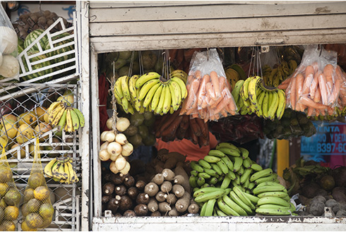 Showing slide 8 of 10 in image gallery, Fruit and vegetable stand in Costa Rica