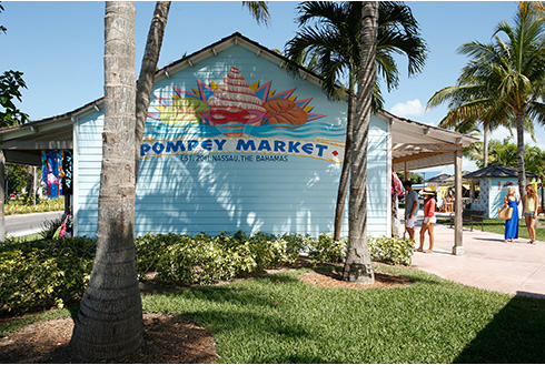 Showing slide 17 of 25 in image gallery, Pompey straw market outside in Nassau