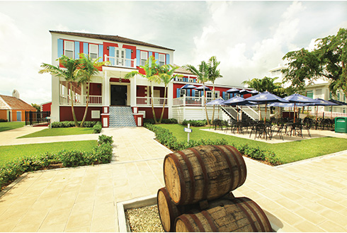 Showing slide 10 of 25 in image gallery, Outside view of Watlings Rum Distillery Estate in Nassau