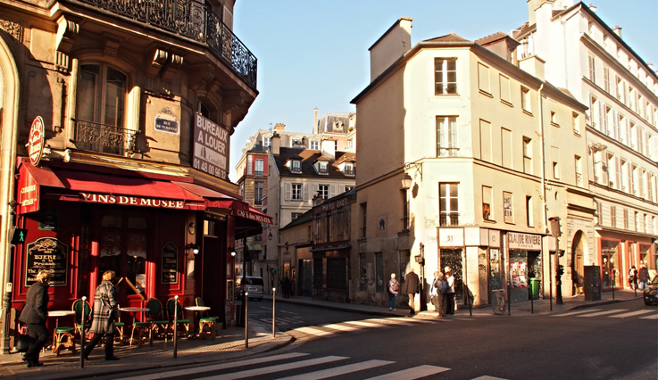 Showing slide 2 of 5 in image gallery, City streets of Paris