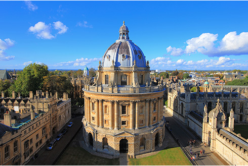 Showing slide 7 of 16 in image gallery, Oxford University aerial view in England