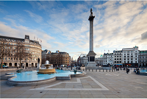 Showing slide 10 of 16 in image gallery, Trafalgar Square in central London