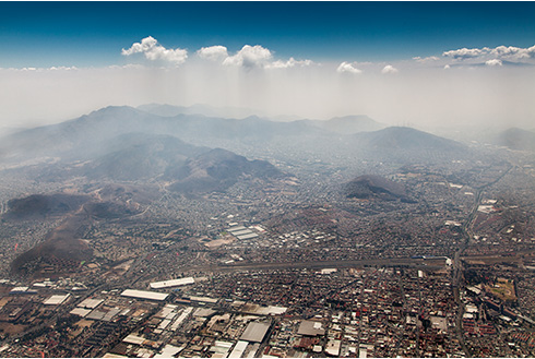 Showing slide 3 of 6 in image gallery, Aerial view of a city, Mexico City, Mexico
