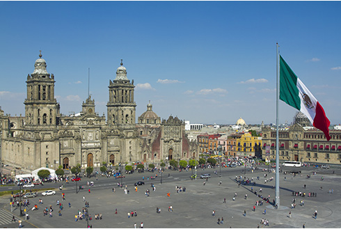 Showing slide 1 of 6 in image gallery, The Zocalo in Mexico City