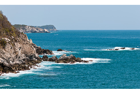 Showing slide 2 of 8 in image gallery, View of the Pacific Coast of Mexico near Huatulco