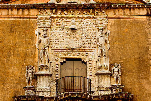 Showing slide 20 of 31 in image gallery, Entrance to Casa de Montejo in Merida