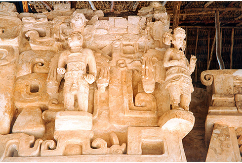 Showing slide 11 of 31 in image gallery, Statues of Ek Balam in the Yucatán