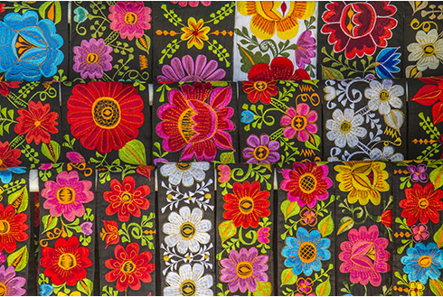 Showing slide 8 of 31 in image gallery, Mexican hand embroidered belts