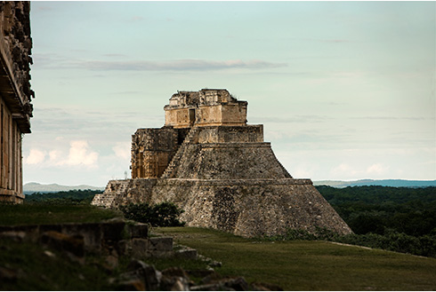 Showing slide 6 of 31 in image gallery, View of old ruins in Uxmal, Yucatán