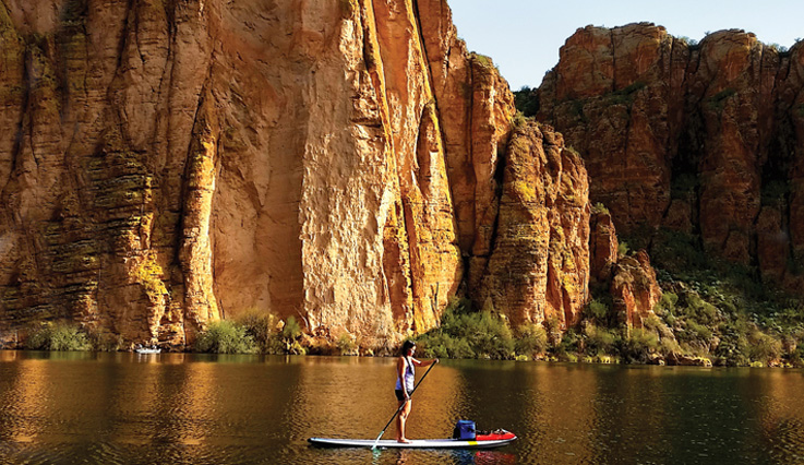 Paddleboarder in Canyon Lake