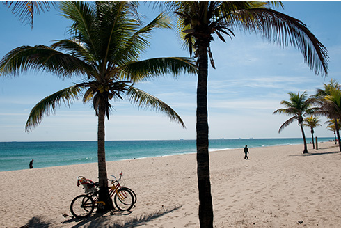 Showing slide 7 of 22 in image gallery, Fort Lauderdale Florida bikes on the beach