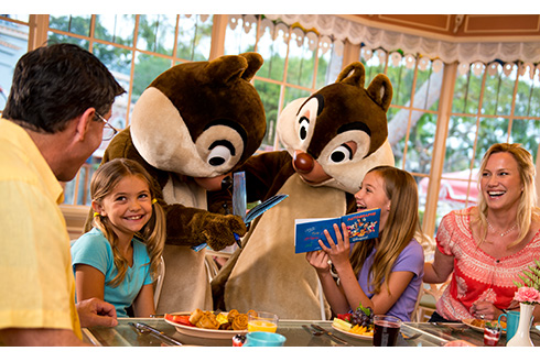 Showing slide 11 of 20 in image gallery, Chipmunks signing autographs at a family breakfast