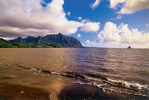 Showing slide 10 of 24 in image gallery, Koolau mountain range, Kaneohe, Oahu