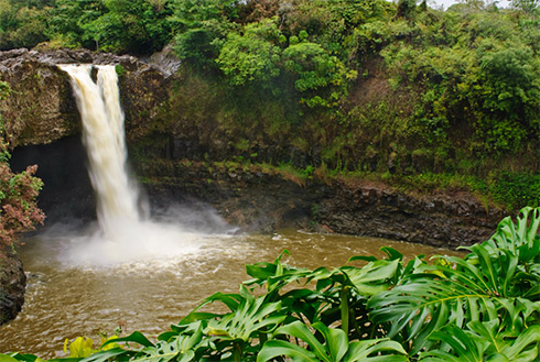 Showing slide 12 of 23 in image gallery, Rainbow Falls, Hilo, Hawaii