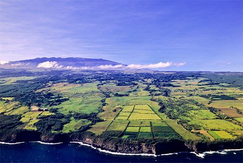 Showing slide 14 of 23 in image gallery, Aerial view of landscape, Kona, Hawaii