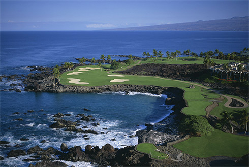 Showing slide 18 of 23 in image gallery, Golf course, Mauna Lani, Kona, Hawaii