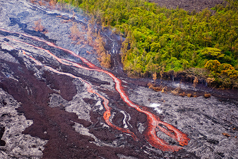Showing slide 21 of 23 in image gallery, Lava flow, Kona, Hawaii