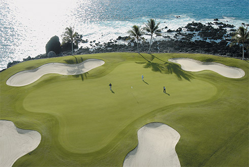 Showing slide 6 of 23 in image gallery, Golfing, Kona, Hawaii