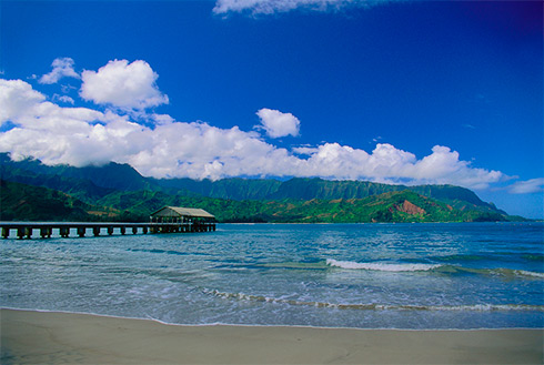 Showing slide 19 of 41 in image gallery, Hanalei Pier, Hanalei, Hawaii