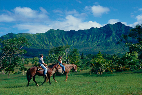 Showing slide 21 of 41 in image gallery, Horseback riding, Kauai