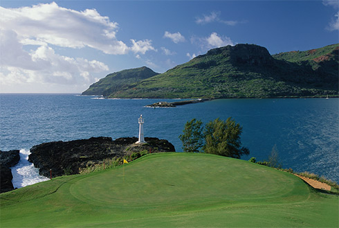 Showing slide 27 of 41 in image gallery, Course at Kauai Lagoons Golf Club, Lihue, Hawaii