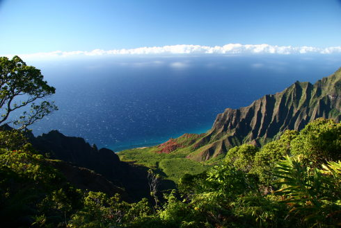 Showing slide 33 of 41 in image gallery, Napali Coast from highlands, Kauai