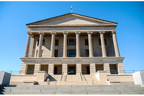 Showing slide 3 of 16 in image gallery, Steps leading up to the Tennessee State Capitol Building