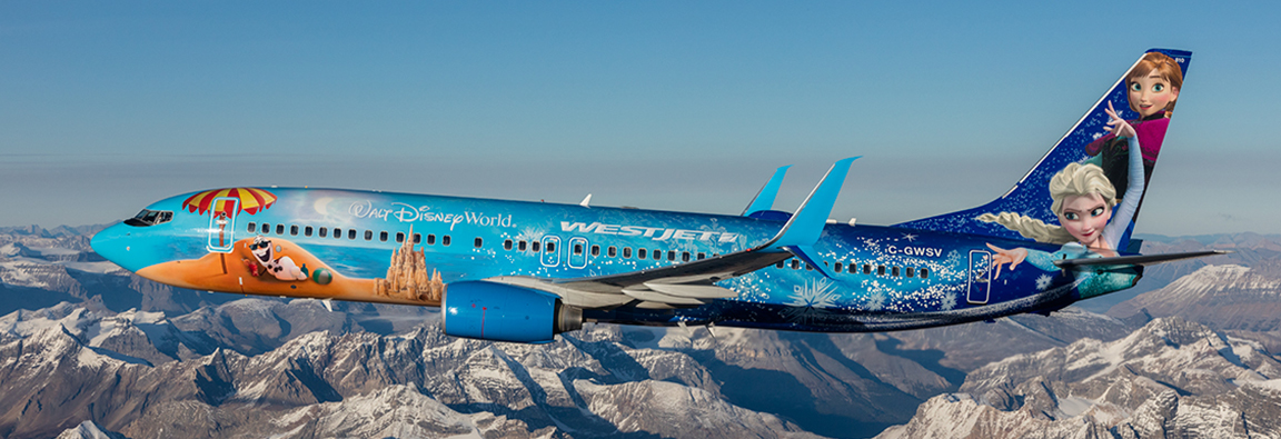 The Disney Frozen Themed Plane Our Fleet Westjet