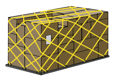 LD11 (PLA) cargo shipment bundled as single unit
