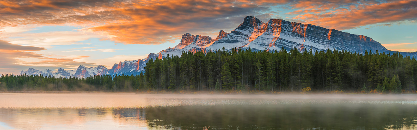 Mount Rundle at sunset in Banff National Park