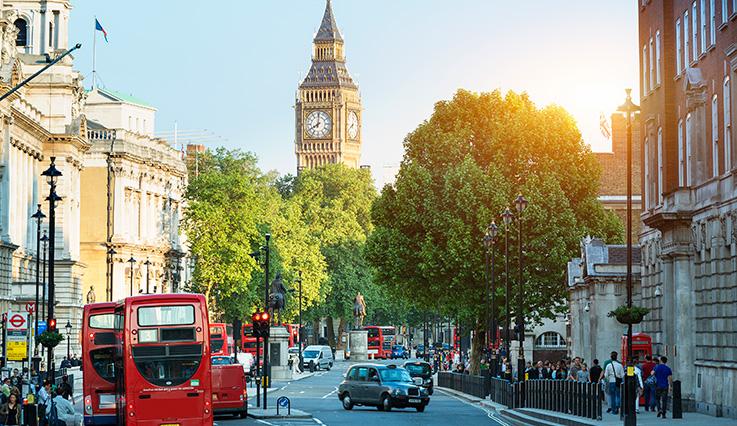 London United Kingdom Europe Westjet
