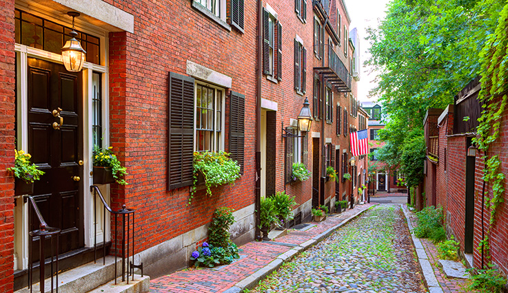 Photo of Boston Acorn Street Beacon Hill