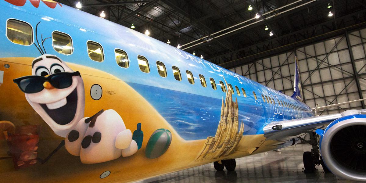 The Disney Frozen Themed Plane Our Fleet Westjet